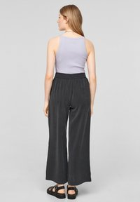 QS by s.Oliver - LOOSE FIT - Trousers - black - 2
