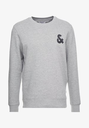 JJECHEST LOGO CREW NECK - Sweatshirt - light grey