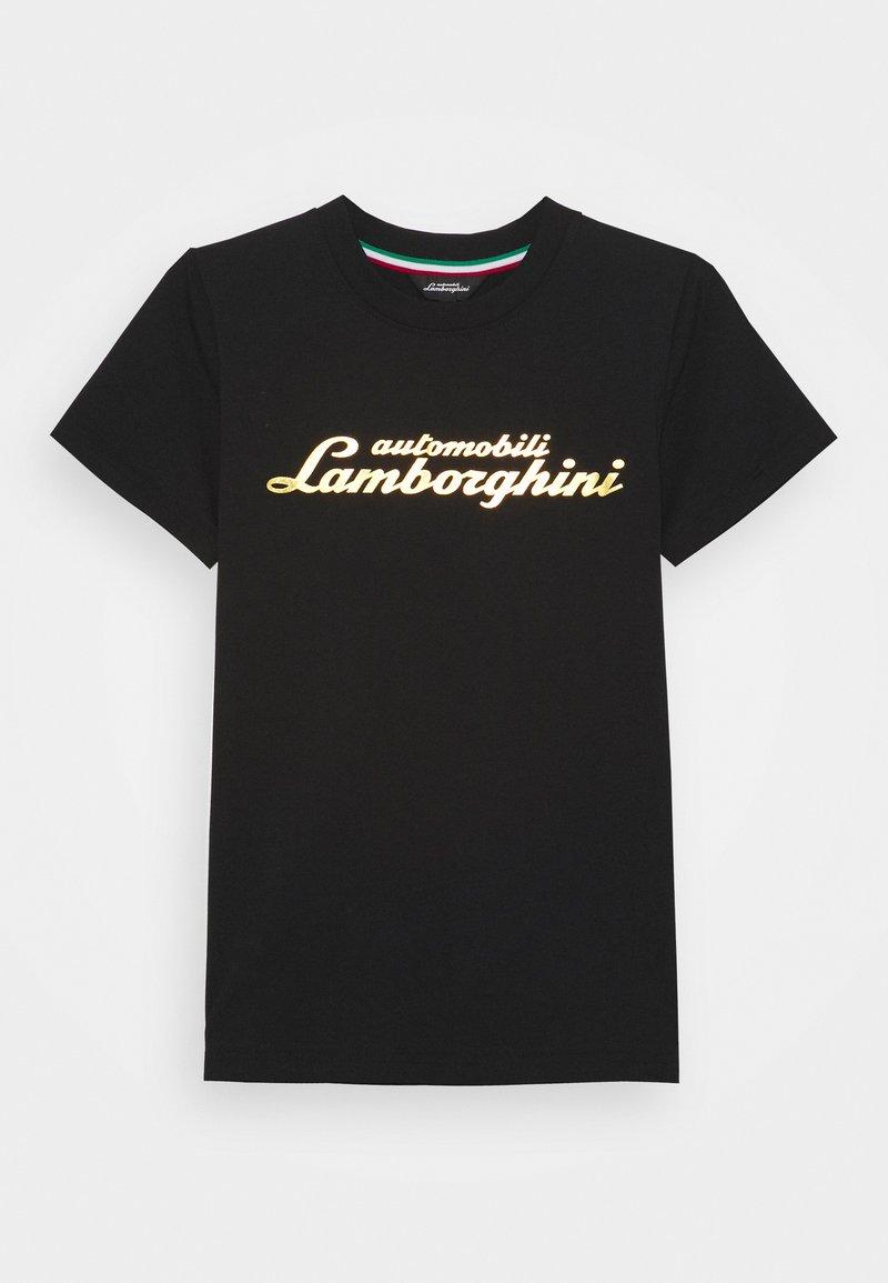 Automobili Lamborghini Kidswear - LOGOSCRIPT - Print T-shirt - black pegaso