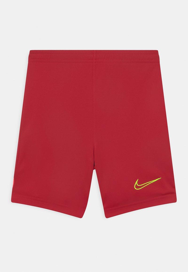Nike Performance - UNISEX - Sports shorts - gym red/bright crimson/volt