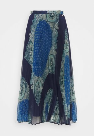 GONNA LONGUETTE DISEGNO PAISLEY - A-line skirt - nautical blue