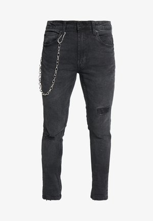 ONSWARP SKINNY BLACK CHAIN - Skinny džíny - black denim