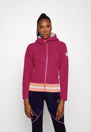 AYONA HOODY - Fleece jacket - red plum