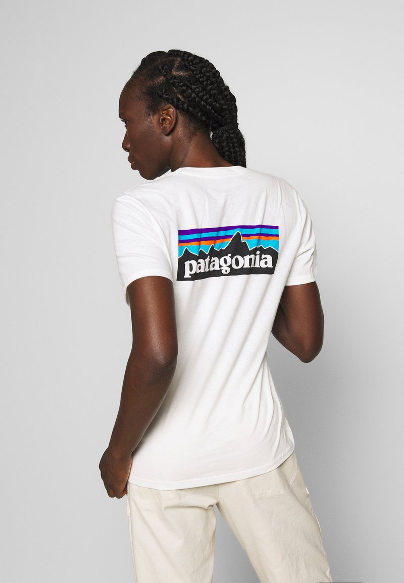 Patagonia - LOGO CREW - T-shirts med print - white