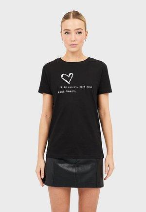 MIT PRINT  - Print T-shirt - black