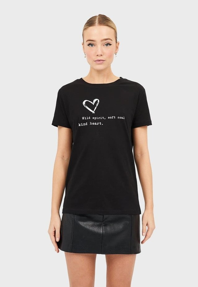 MIT PRINT  - T-shirt con stampa - black