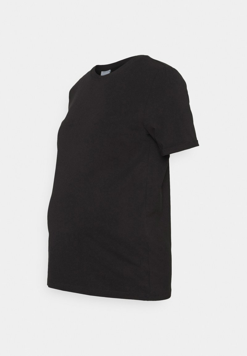 Pieces Maternity - PCMRIA FOLD UP SOLID - Basic T-shirt - black