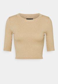 Even&Odd - 2 PACK - T-shirt basic - mottled grey/sand - 6