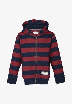 Zip-up hoodie - navy/red