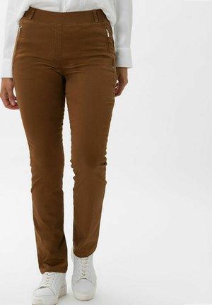 STYLE LAVINA ZIP - Trousers - nougat