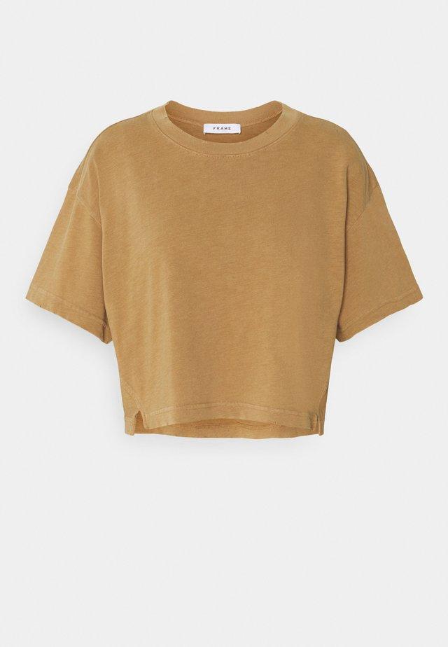 BOXY SLIT TEE - T-shirt basic - vintage camel