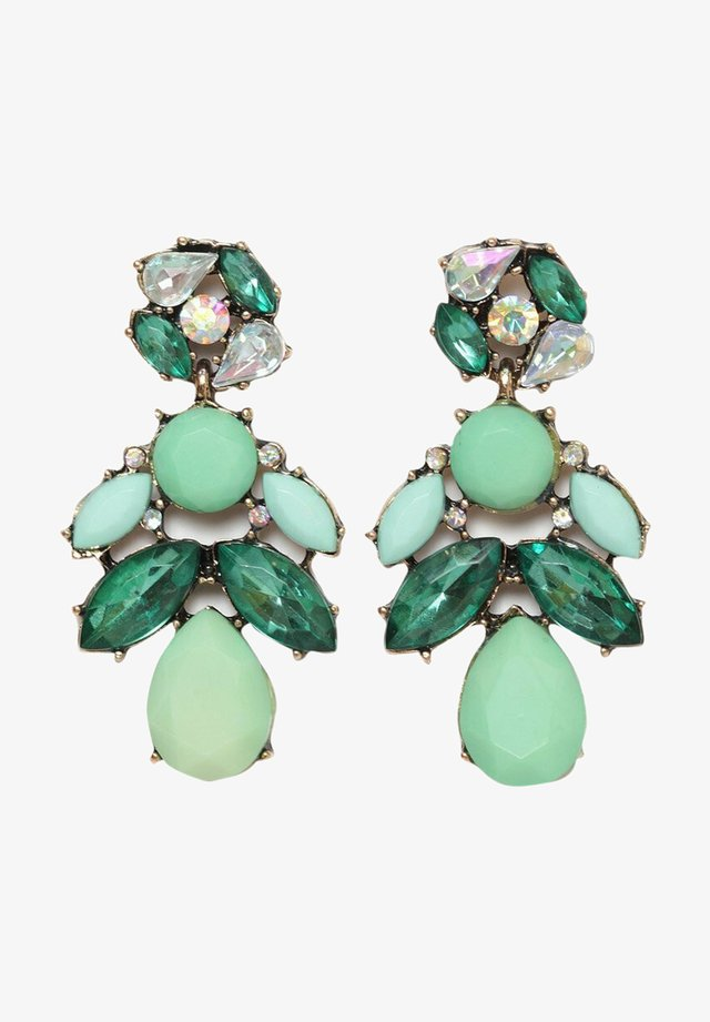 STATEMENT CRYSTAL DROP - Orecchini - green