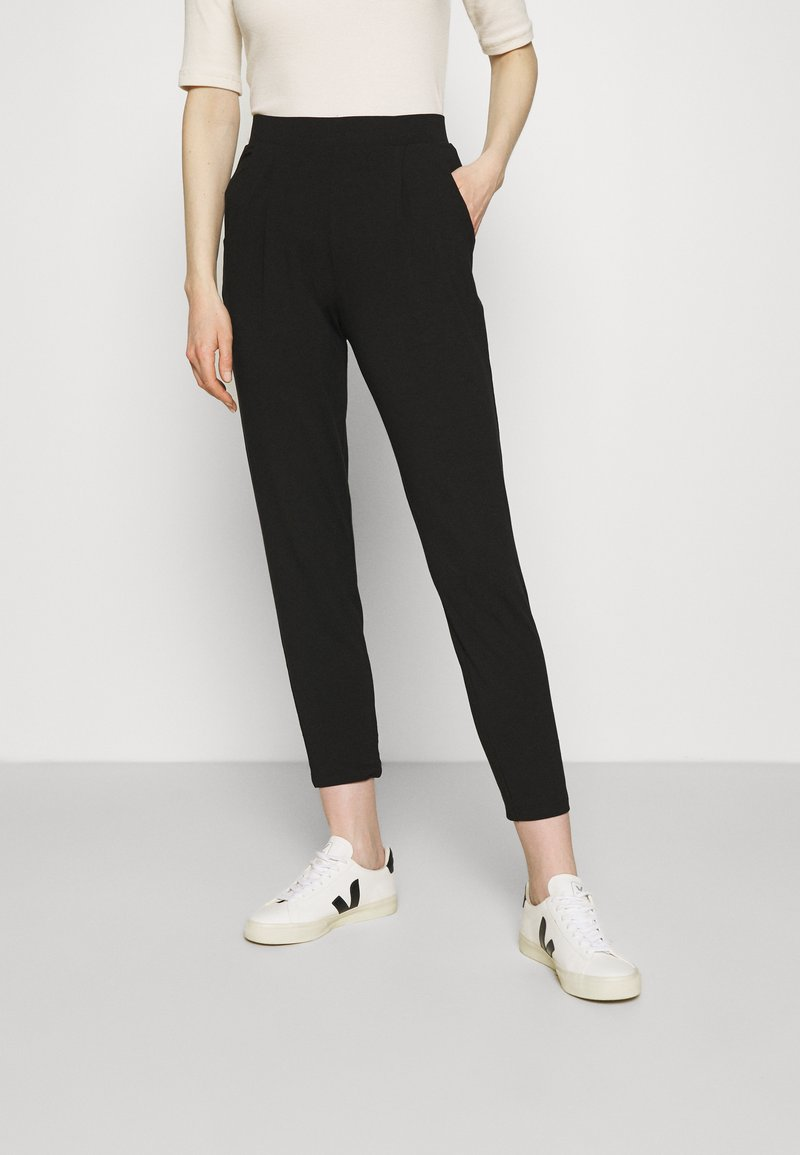 Marks & Spencer London - PLAIN TAP - Trousers - black