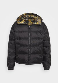 Versace Jeans Couture - RISTOP PRINTED LOGO BAROQUE - Down jacket - nero - 0