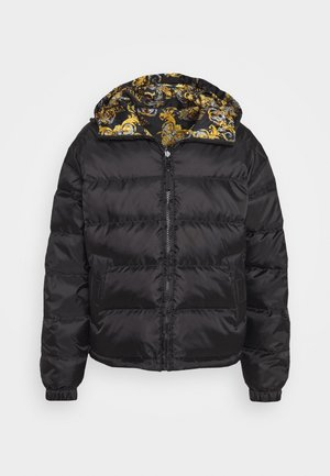 RISTOP PRINTED LOGO BAROQUE - Down jacket - nero