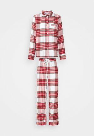 SLEEP SET - Pijama - white/red