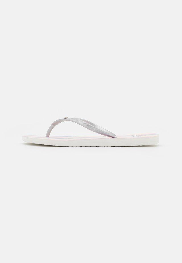 BERMUDA - Japonki kąpielowe - white/multicolor