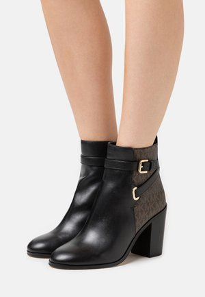 ALDRIDGE BOOTIE - Bottines à talons hauts - black/brown