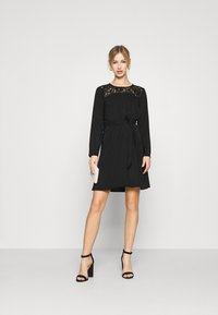 Vila - VISISA TIE BELT DRESS - Day dress - black - 1