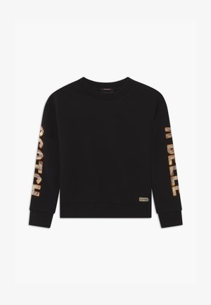 SHORTER LENGTH WITH ARTWORKS - Sweater - black