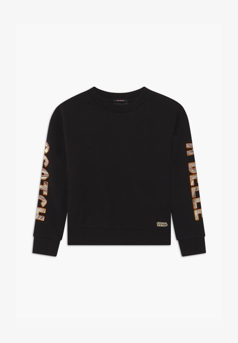 Scotch & Soda - SHORTER LENGTH WITH ARTWORKS - Sweatshirt - black