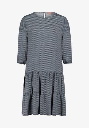 Day dress - blauwe/witte