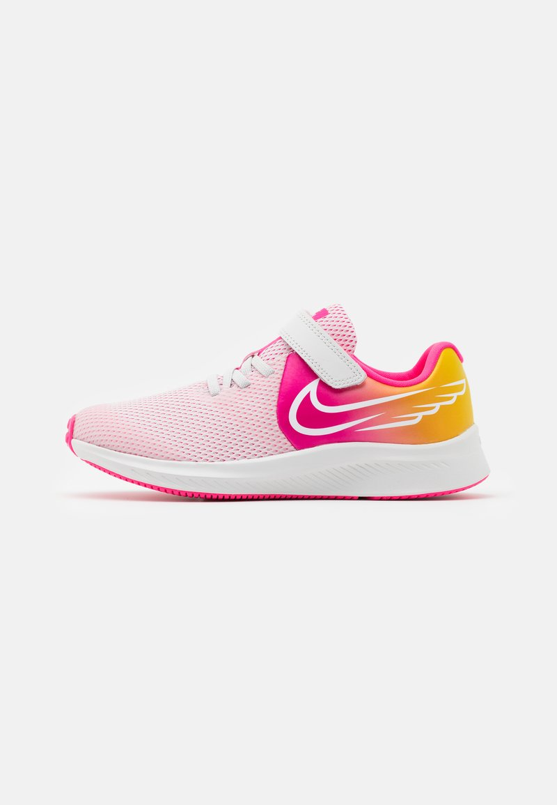 Nike Performance - STAR RUNNER 2 SUN UNISEX - Neutral running shoes - platinum tint/summit white/hyper pink/speed yellow