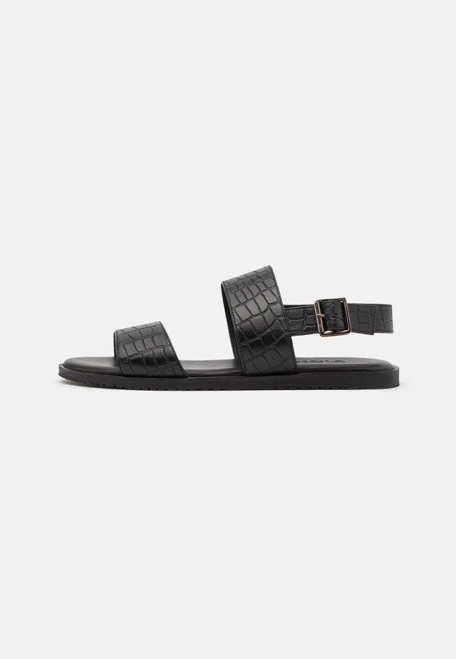 UNISEX - Sandals - black