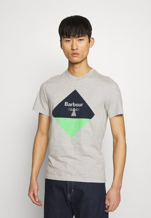 DIAMOND TEE - T-shirt z nadrukiem - grey