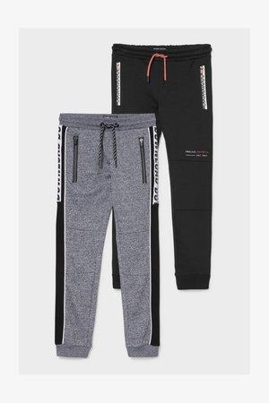 2 PACK - Jogginghose - black
