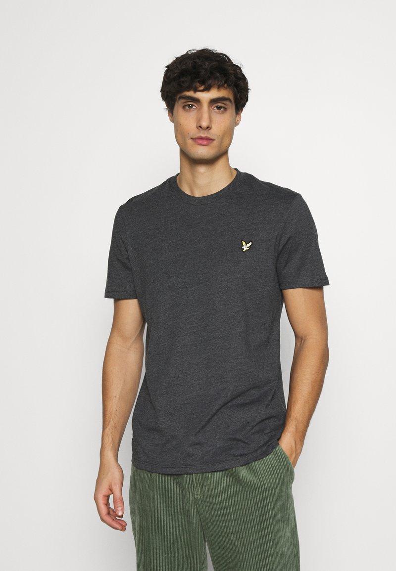 Lyle & Scott - MARLED - T-shirt - bas - jet black marl