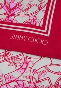 Jimmy Choo - FOULARD SEASONAL JEWELLERY PRINT - Šátek - dark pink - 2