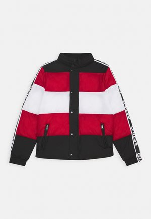 PADDED UNISEX - Kurtka zimowa - black/red/white fant