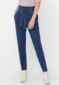 ONLY - REGULAR FIT ONLPOPTRASH PAPERBAG - Straight leg jeans - dark blue denim - 3