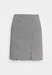 Monki - RENATA SKIRT - Mini skirt - black dark/white - 0