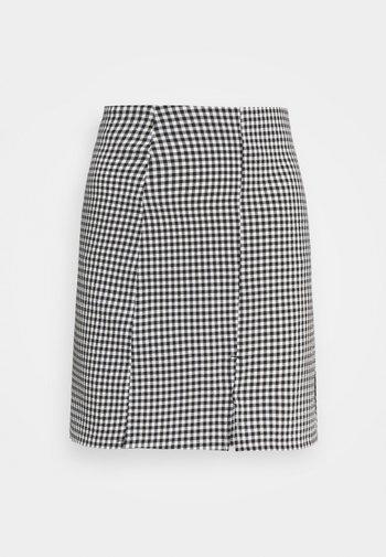 RENATA SKIRT - Mini skirt - black dark/white