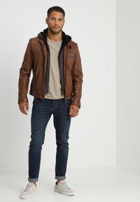 Oakwood - DRINK - Leather jacket - tan - 1