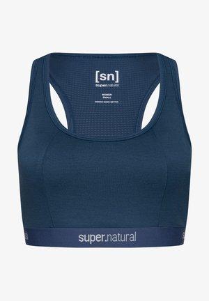 SUPER.NATURAL MERINO TOP W YOGA BUSTIER - Medium support sports bra - denim