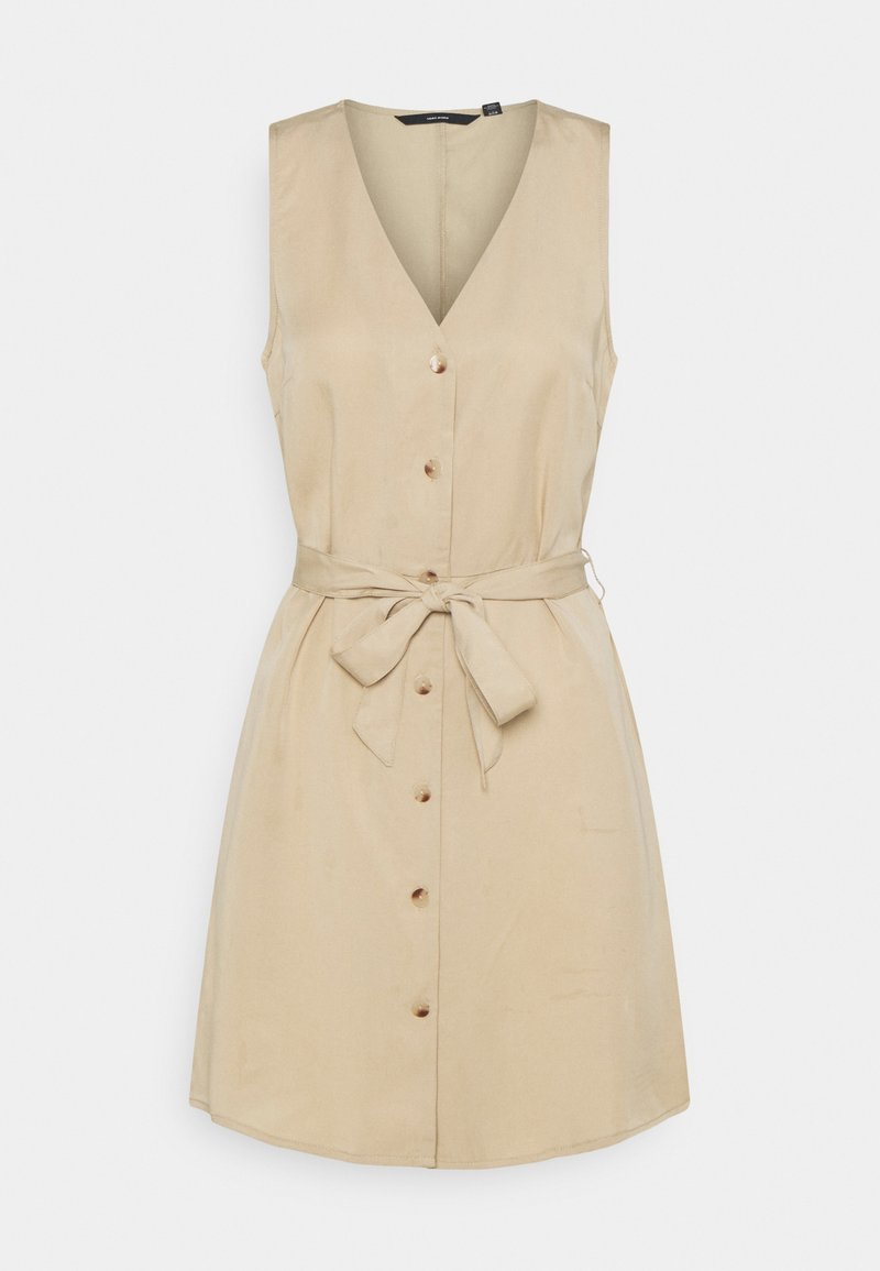 Vero Moda - VMVIVIANA  - Shirt dress - beige