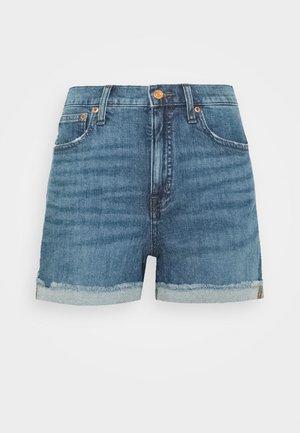 HIGH RISE - Denim shorts - medium faded indigo