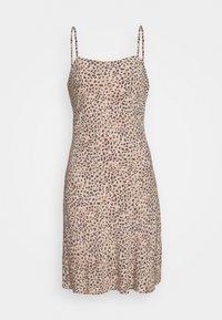 Abercrombie & Fitch - BIAS CUT SLIP DRESS - Vestito estivo - light brown - 4