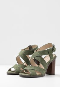 Minelli - High heeled sandals - kaki - 4