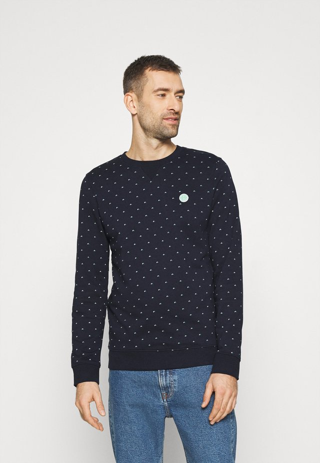 CREWNECK WITH CUTLINES - Felpa - navy