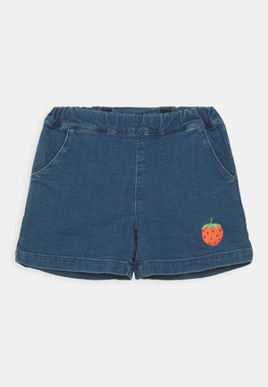 DENIM STRAWBERRY SHORTS UNISEX - Denim shorts - blue