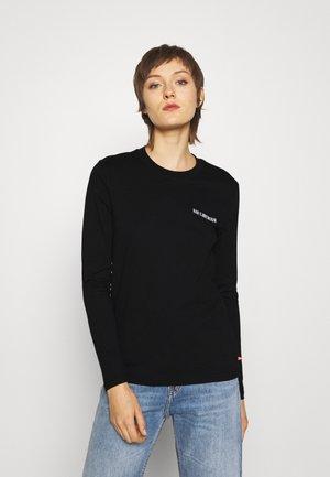 CASUAL TEE LONG SLEEVE - Long sleeved top - black logo
