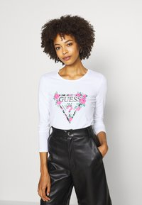 Guess - VILMA  - Long sleeved top - true white - 3