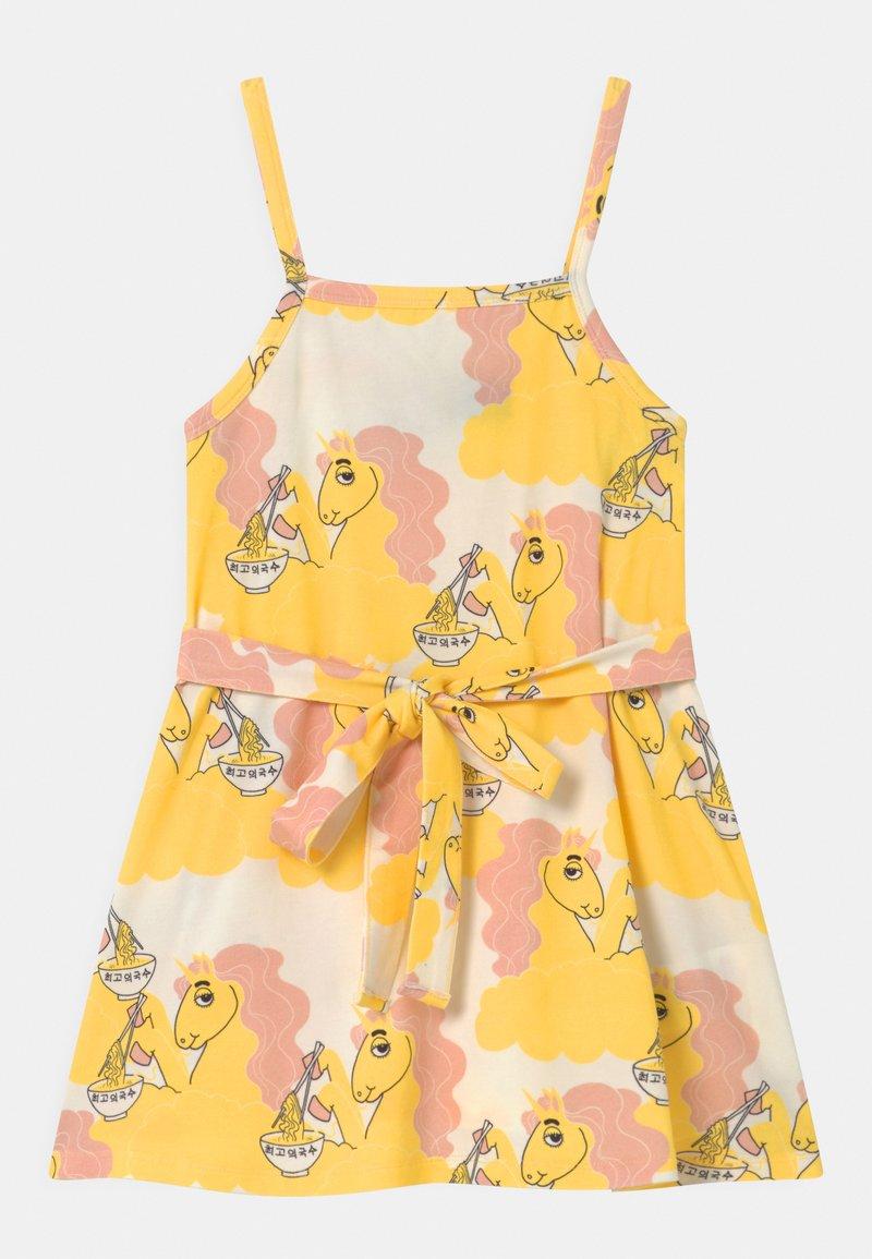 Mini Rodini - UNICORN NOODLES  - Jerseykleid - yellow