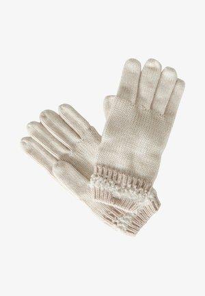 MIT SCHMUCKSTEINEN - Gloves - cream
