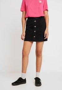 Even&Odd - Denim skirt - black - 0