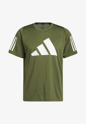 Fleece 3 BAR TEE DESIGNED4TRAINING PRIMEGREEN TRAINING WORKOUT T-SHIRT - Camiseta estampada - green